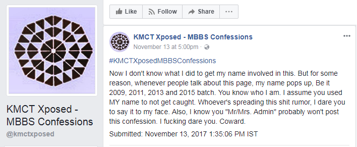 Ooshmal Ullas, KMCT Xposed Confession