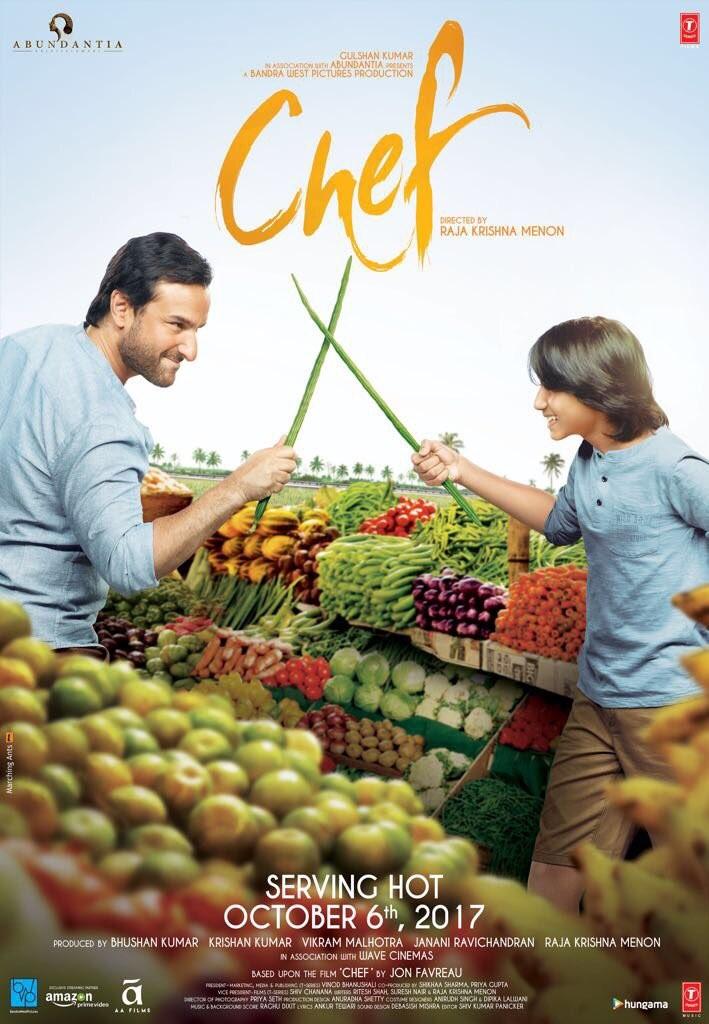 Saif Ali Khan,Chef,Chef first look poster,Chef poster,Chef first look,Chef movie poster,Padmapriya,Saif Ali Khan's Chef