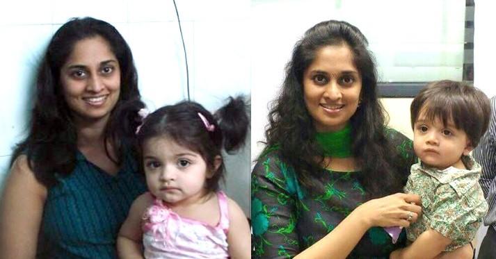 Shalini with kids