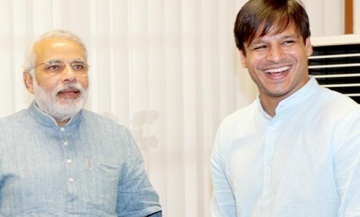 Vivek Oberoi with Narendra Modi