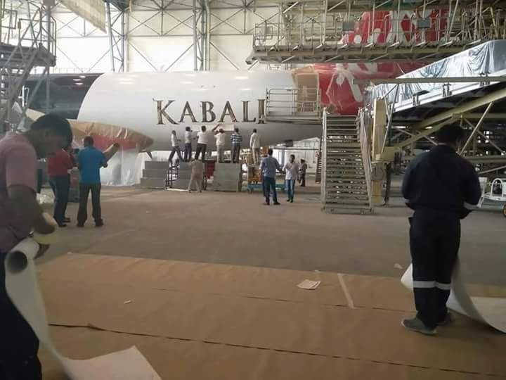 Rajinikanth's Kabali flight,Kabali flight,Kabali,Rajinikanth as Kabali,Kabali promotion,Airasia Kabali,kabali movie,Kabali promotion pics,Kabali promotion images,Kabali promotion photos,Kabali promotion stills,Kabali promotion pictures