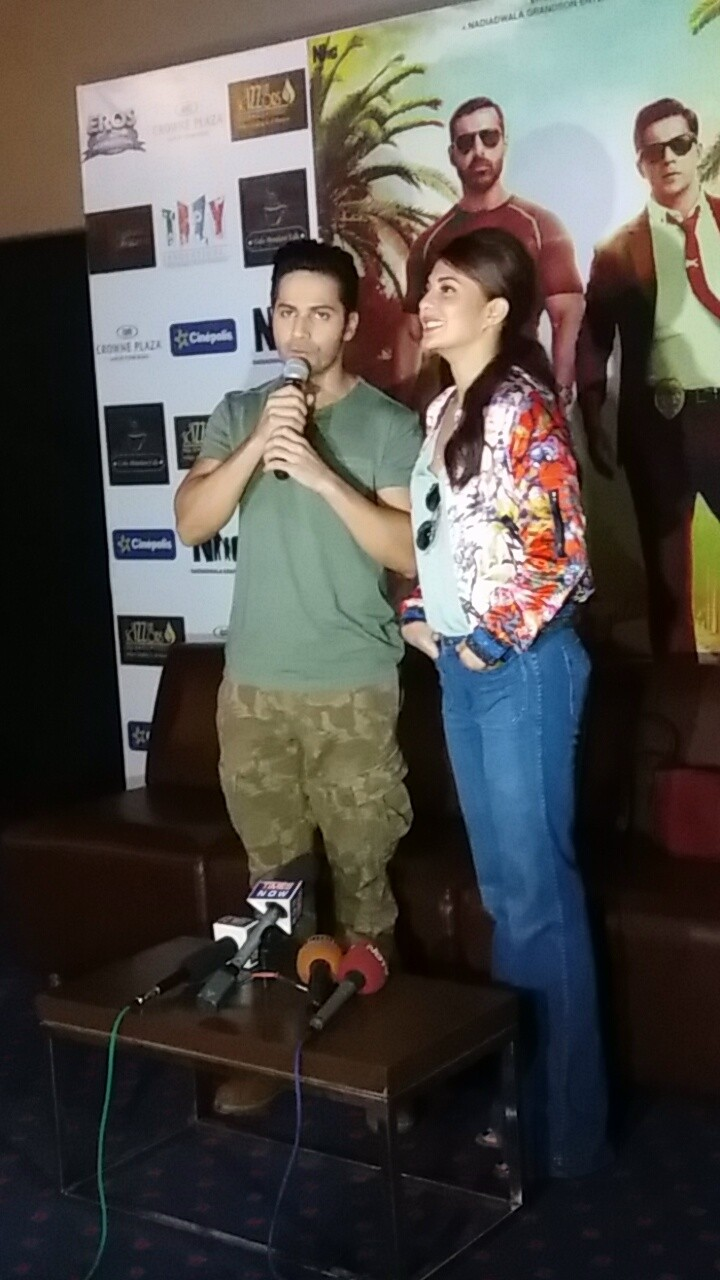 Varun Dhawan,Jacqueline Fernandez,Dishoom,Dishoom promotion,Dishoom movie promotion,Varun Dhawan and Jacqueline Fernandez,Dishoom promotion pics,Dishoom promotion images,Dishoom promotion stills,Dishoom promotion pictures