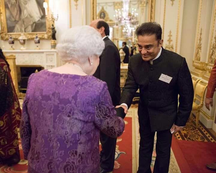 Kamal Haasan meets Queen Elizabeth II,Kamal Haasan,Queen Elizabeth II,Kamal Haasan with Queen Elizabeth II,Queen Elizabeth,actor Kamal Haasan