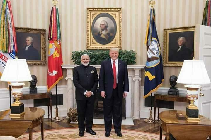 Narendra Modi meets US President Donald Trump,Narendra Modi meets Donald Trump,Narendra Modi,Donald Trump,Narendra Modi with Donald Trump,Narendra Modi at White House