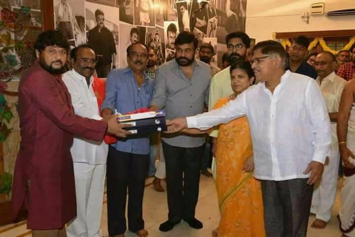 Chiranjeevi,Megastar Chiranjeevi,Chiranjeevi 151st film,Chiranjeevi 151st movie,Uyyalawada Narasimha Reddy,Uyyalawada Narasimha Reddy movie pooja,Uyyalawada Narasimha Reddy launch