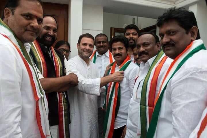 Revanth Reddy,Revanth Reddy joins Congress,Rahul Gandhi,Revanth Reddy in Congress
