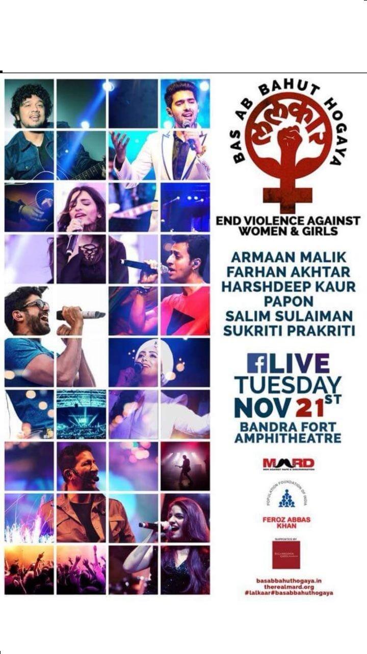 Armaan Malik,Harshdeep Kaur,Salim-Sulaiman,Sukriti Kakkar,Lalkar,Lalkar concert