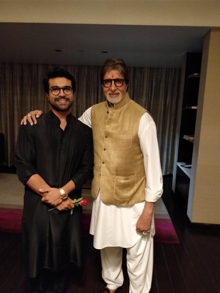 Amitabh Bachchan,actor Amitabh Bachchan,Amitabh Bachchan joins Ram Charan birthday,Amitabh Bachchan at Ram Charan birthday,Ram Charan birthday,Ram Charan birthday pics,Ram Charan birthday images,Chiranjeevi