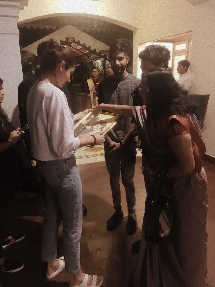Anushka Sharma,Anushka Sharma and Virat Kohli,Virat Kohli,Virushka,Virushka painting,Sui Dhaaga,Sui Dhaaga on the sets