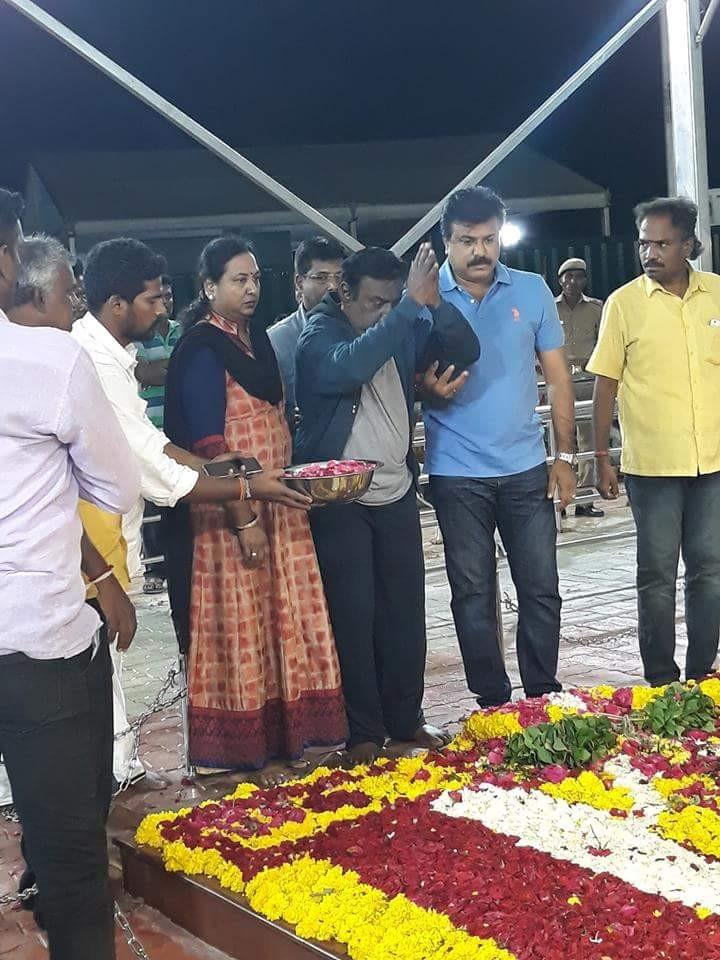 DMDK leader Vijayakanth,Vijayakanth,Vijayakanth at Karunanidhi memorial,Karunanidhi memorial,Vijayakanth at Marina