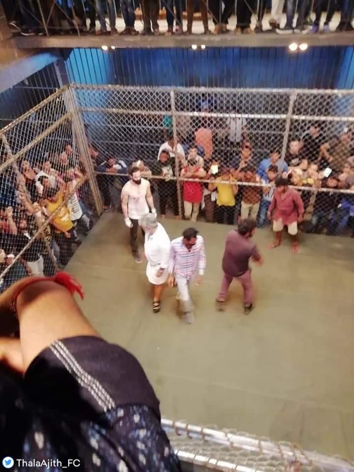 Viswasam shooting spot,Viswasam shooting,Viswasam on the sets,Thala Ajith,Thala Ajith Viswasam,Ajith Viswasam,Ajith fight,Ajith fight leaked,Thala Ajith fight