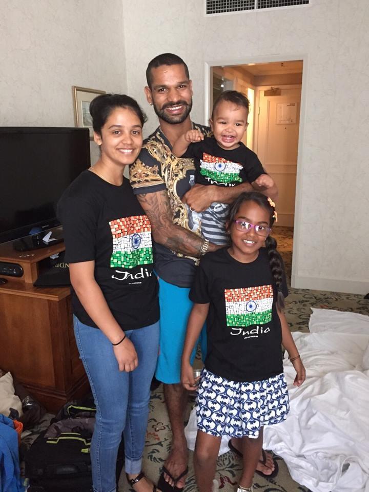 Shikhar Dhawan and Family