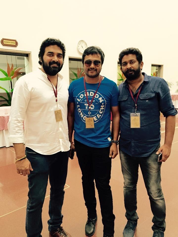 Gopi Sunder, Bobby Simha and Vivek
