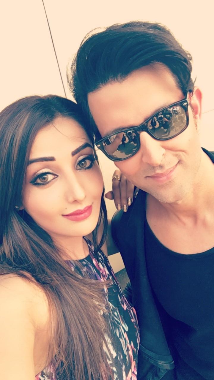 Sonia Mann and Hrithik Roshan during a shoot
