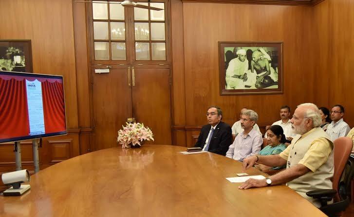 Narendra Modi,Maithripala Sirisena,Prime Minister Narendra Modi,PM Narendra Modi,Modi,Narendra Modi inaugurates stadium in Jaffna renovated by India,Narendra Modi inaugurates stadium in Jaffna,Sri Lankan President Maithripala Sirisena,Maithripala Sirisena
