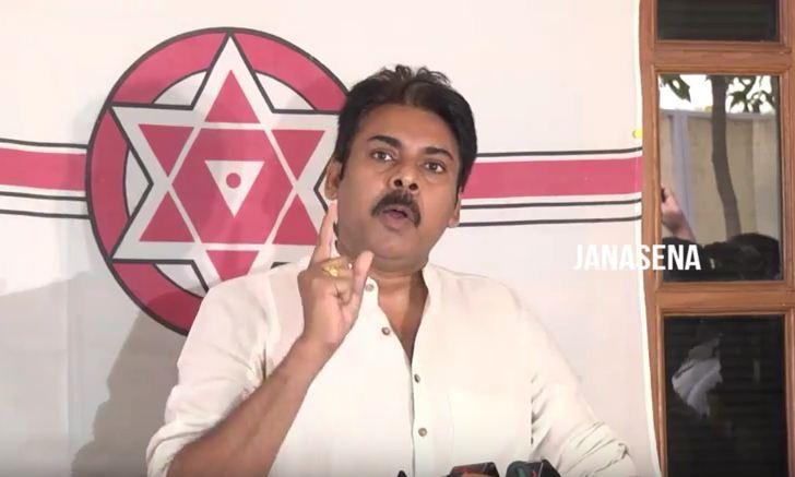 Pawan Kalyan addressing press meet