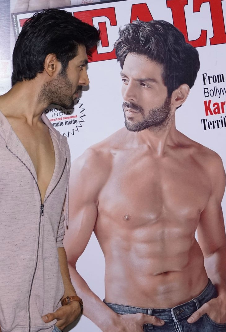 Sonu Ke Ki Titu Sweety,Kartik Aaryan,Health and Nutrition Magazine,actor Kartik Aaryan,Kartik Aaryan on Magazine,Kartik Aaryan on Nutrition Magazine