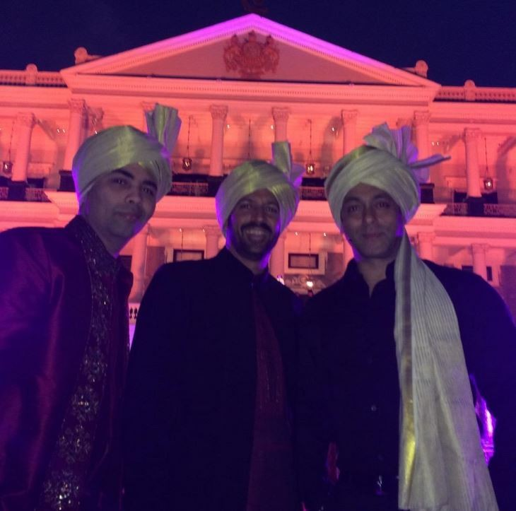 Karan Johar, Kabir Khan with Salman Khan