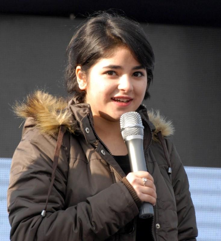 Zaira Wasim Khan,Dangal actress,Dangal,Dangal actress Zaira,Zaira Wasim Khan at Save water campaign,Save water campaign