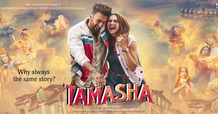 Tamasha review,Tamasha,bollywood movie Tamasha,Ranbir Kapoor-Deepika Padukone,Ranbir Kapoor,Deepika Padukone,Tamasha box office,Tamasha box office collection