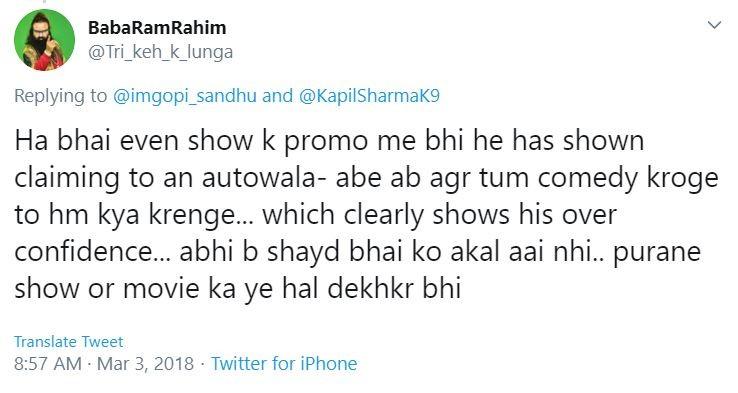 Kapil Sharma trolled