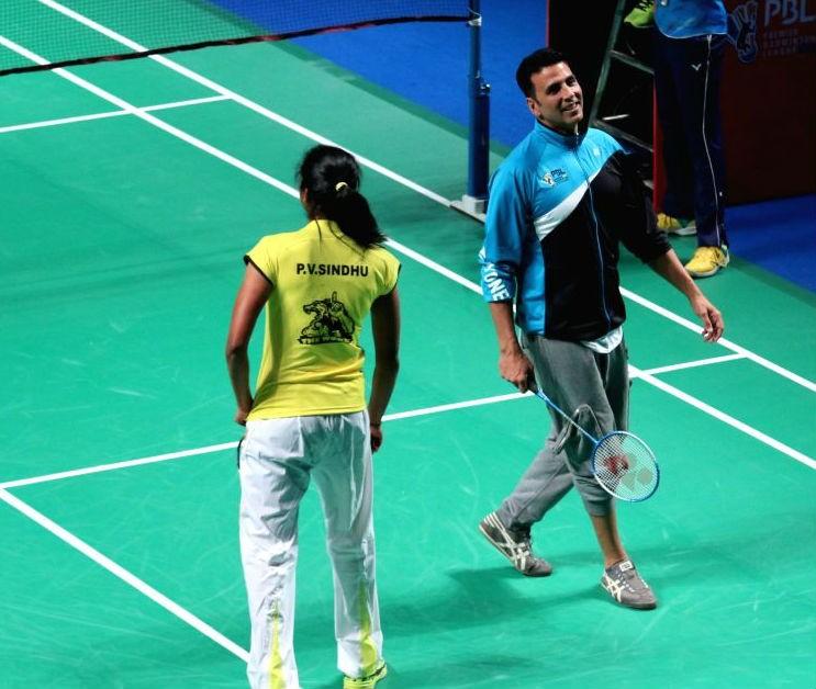 Akshay Kumar,P.V. Sindhu,Akshay Kumar and P.V. Sindhu,Khiladi actor,shuttler P.V. Sindhu,Rio Olympics,Rio Olympics 2016,2016 rio olympics