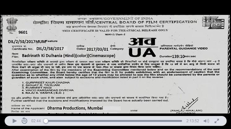 Badrinath Ki Dulhania leaked online