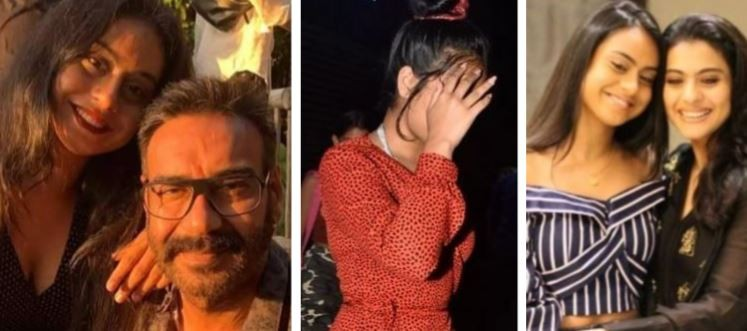 Nysa Devgn, Ajay Devgn and Kajol