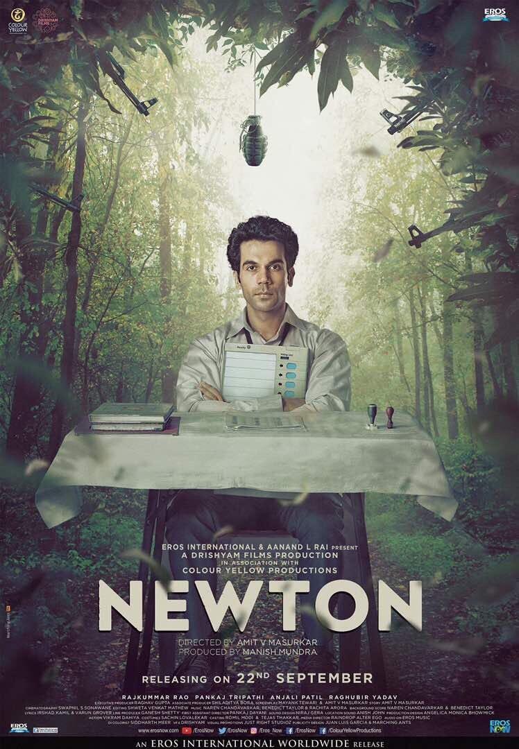 Rajkummar Rao,actor Rajkummar Rao,Rajkummar Rao as Newton,Newton first look poster,Newton first look,Newton poster,Newton movie poster