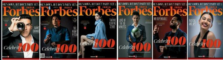 Forbes top 100 celebrities