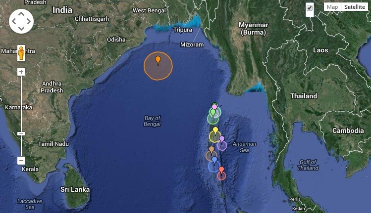 An earthquake measuring 6 on the Richter scale has hit the Bay of Bengal Wednesday night.