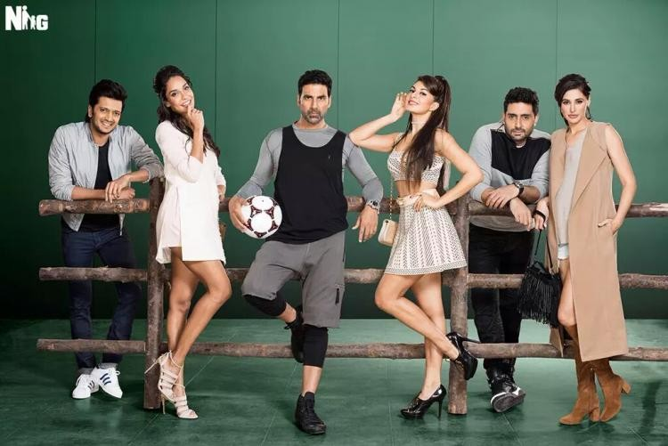 Housefull 3,housefull 3 first look,Housefull 3 poster,Akshay Kumar,Abhishek Bachchan,Riteish Deshmukh,Jacqueline Fernandez,Lisa Haydon,Nargis Fakhri