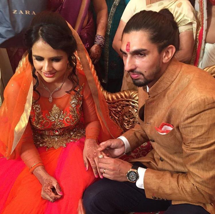 Ishant Sharma,Ishant Sharma engaged to Pratima Singh,Ishant Sharma and Pratima Singh,Pratima Singh,basketball player Pratima Singh,cricket player Ishant Sharma,Ishant Sharma engagement,Ishant Sharma engagement pics,Ishant Sharma engagement images,Ishant S