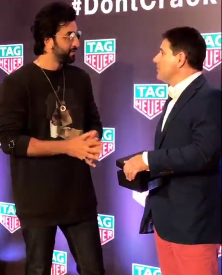 Ranbir Kapoor,TAG Heuer's latest collection,TAG Heuer,Ranbir Kapoor launches TAG Heuer,Actor Ranbir Kapoor,bollywood actor Actor Ranbir Kapoor