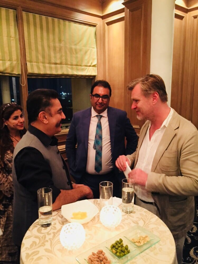 Kamal Haasan,Christopher Nolan,Christopher Nolan meets Kamal Haasan,Kamal Haasan meets Christopher Nolan,Christopher Nolan in India,Christopher Nolan pics,Christopher Nolan images
