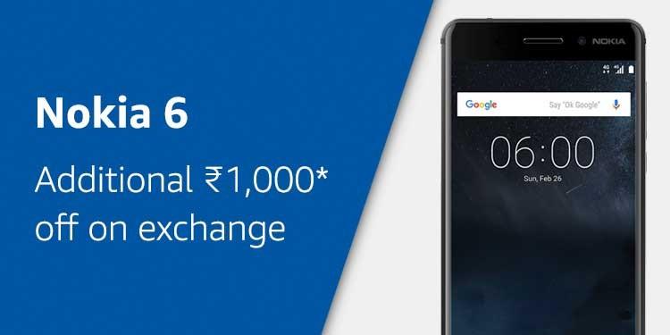 Nokia 6 on Amazon India