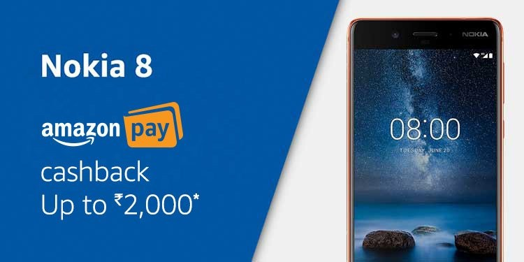 Nokia 8 offer on Amazon.in