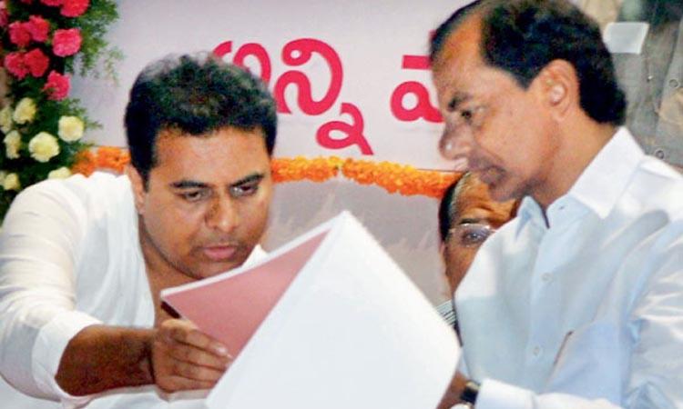 K Chandrashekar Rao and KT Rama Rao