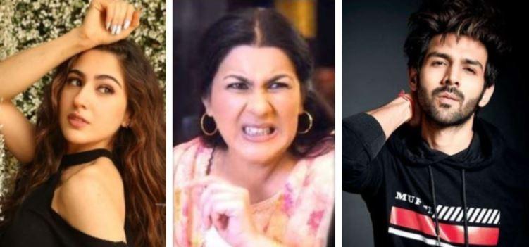 Sara Ali Khan, Amrita Singh, Kartik Aaryan