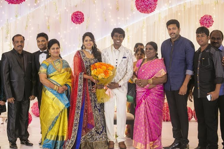 Jayam Ravi at Atlee-Krishna Priya's Wedding Reception