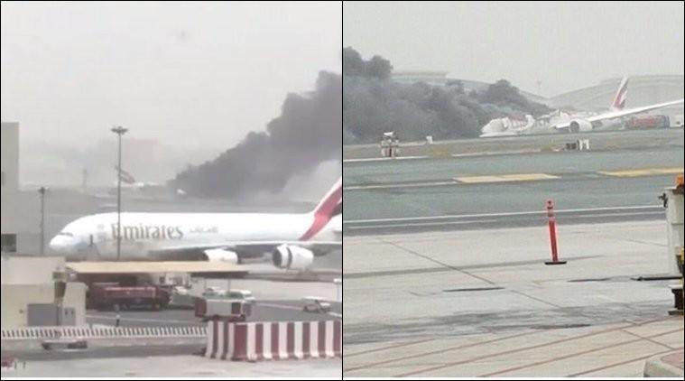 Emirates flight crash,Emirates flight crash at Dubai Airport,Emirates flight,flight crash,Dubai Airport