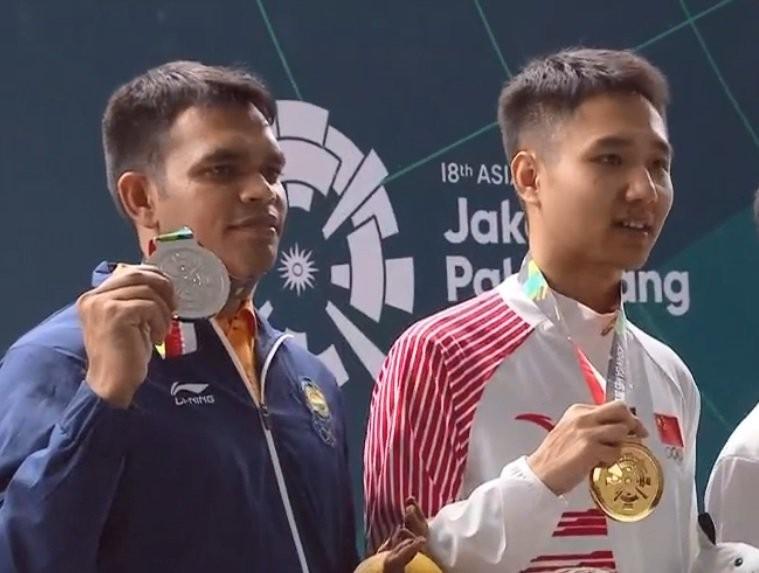 Asian Games 2018,Deepak Kumar,Deepak Kumar wins silver,Shooter Deepak Kumar,10m Air Rifle