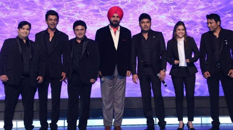 Navjot Singh Sidhu with The Kapil Sharma Show