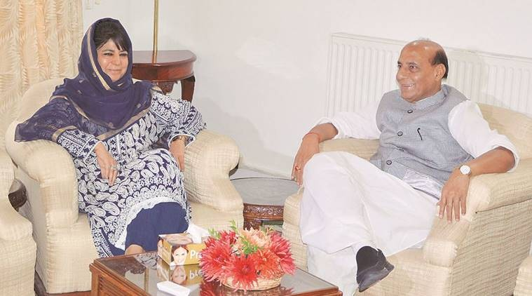 Union Home Minister Rajnath Singh and Chief Minister Mehbooba Mufti