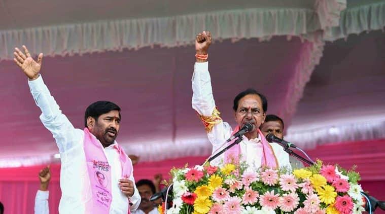 TRS chief K Chandrasekhar Rao