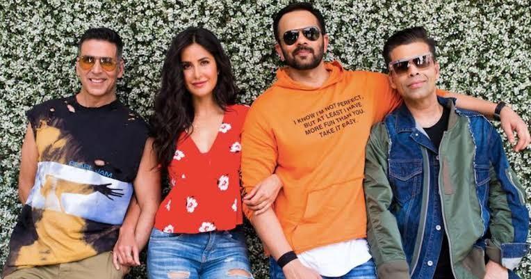 Akshay Kumar, Katrina Kaif, Rohit Shetty, Karan Johar