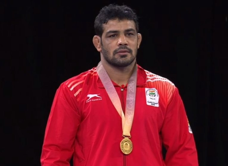 Wrestler Sushil Kumar,Sushil Kumar,Sushil Kumar  wins gold,Sushil Kumar gold medal,Commonwealth Games,Commonwealth Games 2018,CWG 2018