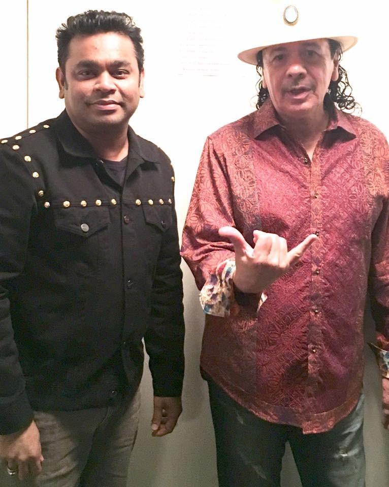 A.R. Rahman,AR Rahman,A.R. Rahman performed with Carlos Santana,AR Rahman with Carlos Santana,Carlos Santana,musician Carlos Santana,Oscar-winning composer AR Rahman