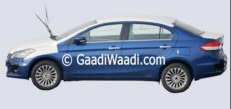 Maruti Suzuki Ciaz Spied in New Blue Colour Shade, Could Be Ciaz Z