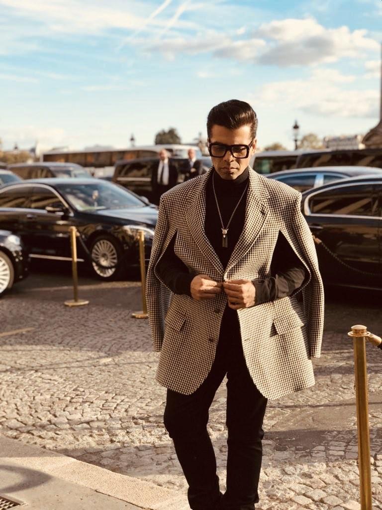 Filmmaker Karan Johar,Karan Johar,Karan Johar at Paris Fashion Week,Paris Fashion Week,celebs at at Paris Fashion Week,Karan Johar wears Gucci,Paris Fashion Week pics,Paris Fashion Week images,Paris Fashion Week stills,Paris Fashion Week pictures,Paris Fa